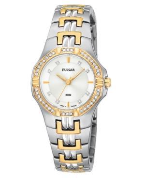 Pulsar Watch, Women's Stainless Steel Bracelet Ptc388
