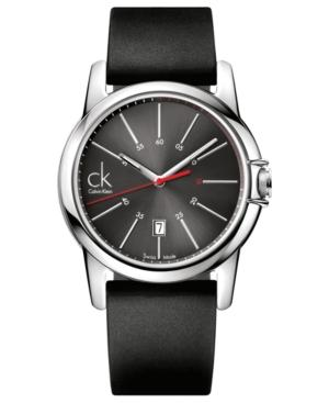 Ck Calvin Klein Watch, Men's Swiss Select Black Rubber Strap 42mm K0a21507