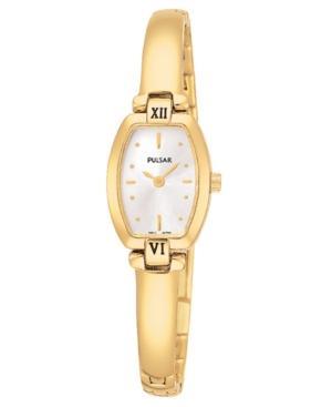 Pulsar Watch, Women's Gold-tone Stainless Steel Bracelet Pega68