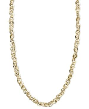 14k Gold Necklace, 16 Perfectina Chain Necklace