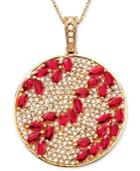 Rosa By Effy Ruby (3-1/3 Ct. T.w.) & Diamond (9/10 Ct. T.w.) Pendant In 14k Rose Gold