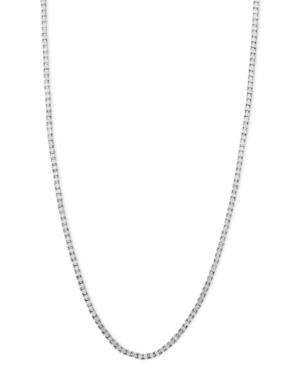 """14k White Gold Necklace, 16"""" Box Chain"""