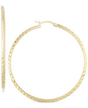 Twisted Hoop Earrings In 14k Gold Vermeil