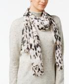 Calvin Klein Leopard Print Chiffon Scarf