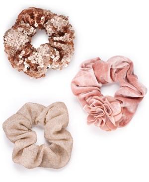 I.n.c. 3-pk. Blush Scrunchies, Created For Macy's