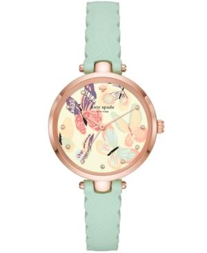 Kate Spade New York Women's Holland Mint Leather Strap Watch 34mm