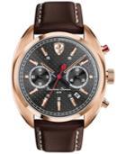 Scuderia Ferrari Men's Chronograph Formula Sportiva Brown Leather Strap Watch 45mm 830210
