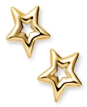 14k Gold Earrings, Small Star Stud Earrings