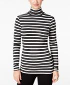 G.h. Bass & Co. Striped Turtleneck Top
