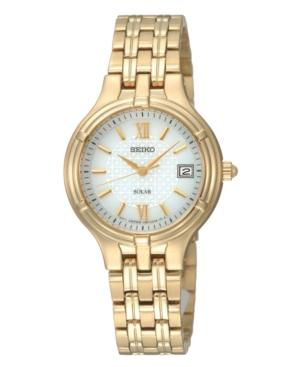 Seiko Watch, Women's Gold-tone Stainless Steel Bracelet 28mm Sut018