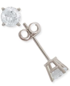 Diamond Stud Earrings (1/2 Ct. T.w.) In 14k Gold Or White Gold
