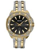 Seiko Men's Solar Dress Two-tone Stainless Steel Bracelet Watch 45mm