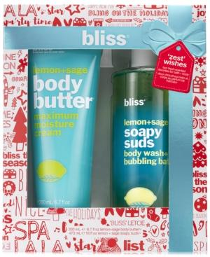 Bliss 2-pc. Zest Wishes Body Butter And Soapy Suds Set