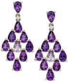 Amethyst (10 Ct. T.w.) And Diamond Accent Chandelier Earrings In 14k Gold