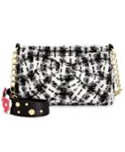 Betsey Johnson Floral Tweed Shoulder Bag