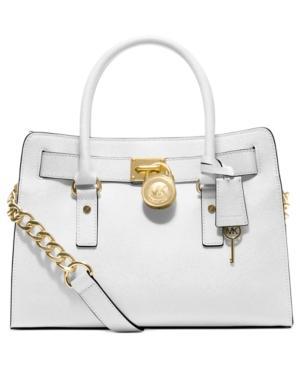 Michael Michael Kors Handbag, Hamilton Saffiano Leather E/w Satchel