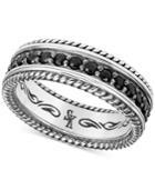 Scott Kay Men's Black Sapphire Ring (1-3/4 Ct. T.w.) In Sterling Silver
