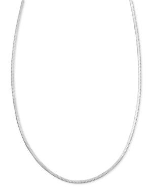 Giani Bernini Sterling Silver Necklace, Square Chain