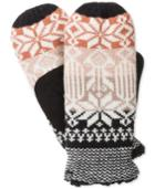 Isotoner Signature Oxford Snowflake Knit Mittens