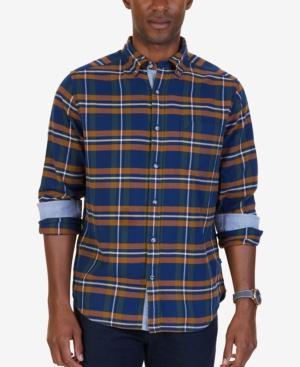 Nautica Men's Marine Plaid Flannel Shirt
