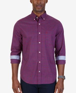 Nautica Men's Classic-fit Wrinkle-resisant Stretch Plaid Shirt
