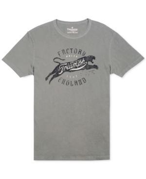 Lucky Brand Triumph Factory London Retro Logo T-shirt
