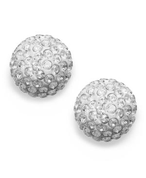 Swarovski Earrings, 22k Gold-plated Crystal Stud Earrings