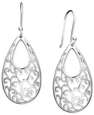 Giani Bernini Sterling Silver Earrings, Open Filigree Drop