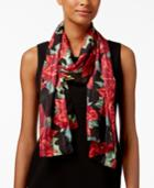Collection Xiix Poinsettia Metallic-stripe Scarf & Wrap In One