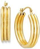 Triple Hoop Earrings In 10k Gold