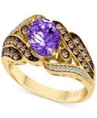 Le Vian Grape Amethyst (1 Ct. T.w.) & Diamond (1/3 Ct. T.w.) Ring In 14k Gold