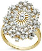 Diamond Burst Ring (1-1/8 Ct. T.w.) In 14k White Gold