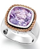 Amethyst Pendant Ring (6 Ct. T.w.) In 18k Rose Gold And Sterling Silver