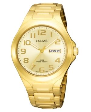 Pulsar Watch, Men's Gold-tone Stainless Steel Bracelet Pxn152