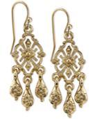 2028 Gold-tone Filigree Chandelier Earrings