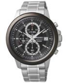 Seiko Men's Chronograph Stainless Steel Bracelet Watch 43mm Sks451