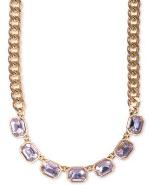 Rachel Rachel Roy Necklace, Gold-tone Crystal Frontal Necklace