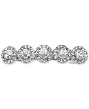 Jewel Badgley Mischka Silver-tone Crystal Barrette