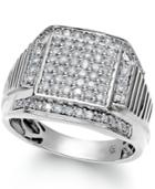 Men's Diamond Ring In 10k White Gold (1 Ct. T.w.)