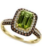 Effy Peridot (1 1/2 Ct. T.w.) & Diamond (1/2 Ct. T.w.) Ring In 14k Gold