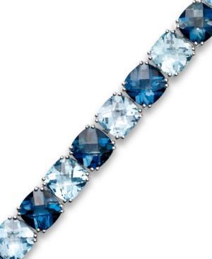 Sterling Silver Bracelet, Blue Topaz Bracelet (50 Ct. T.w.)