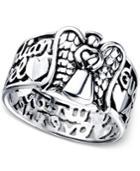 Unwritten Guardian Angel Ring In Sterling Silver