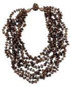 Smoky Quartz Eight Strand Necklace