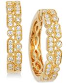 Le Vian Vanilla Deco Estate Gold Diamond (5/8 Ct. T.w.) Hoop Earrings In 14k Gold