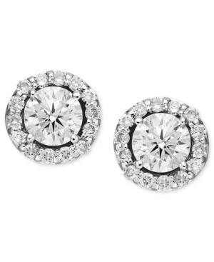 Diamond Earrings, 14k White Gold Diamond Margarita Stud Earrings (1-1/2 Ct. T.w.)