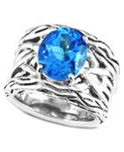 Balissima By Effy Blue Topaz Weave Band Ring (5-3/4 Ct. T.w.) In Sterling Silver