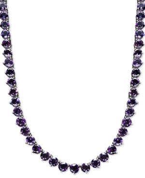 Sterling Silver Necklace, Amethyst Necklace (30 Ct. T.w.)
