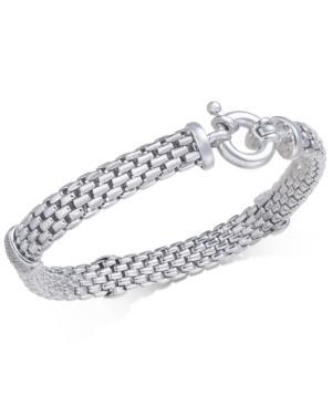 Diamond Mesh Link Bracelet (1/5 Ct. T.w.) In Sterling Silver