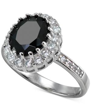Giani Bernini Cubic Zirconia Halo Ring In Sterling Silver, Created For Macy's