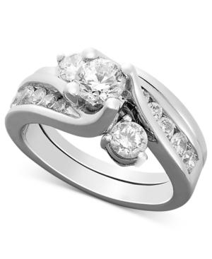 Diamond Ring, 14k White Gold Certified Diamond Bridal Set (1-1/2 Ct. T.w.)